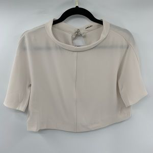 6dfaeff4 Marc Cain Cropped Top Flowy Short Sleeve High Neck